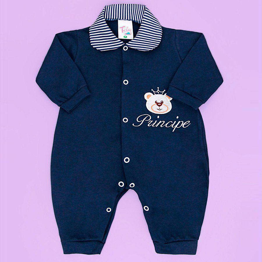 Macacão Príncipe Cara De Urso Marinho Masculino - Toca do Bebê ... 98cd744616d