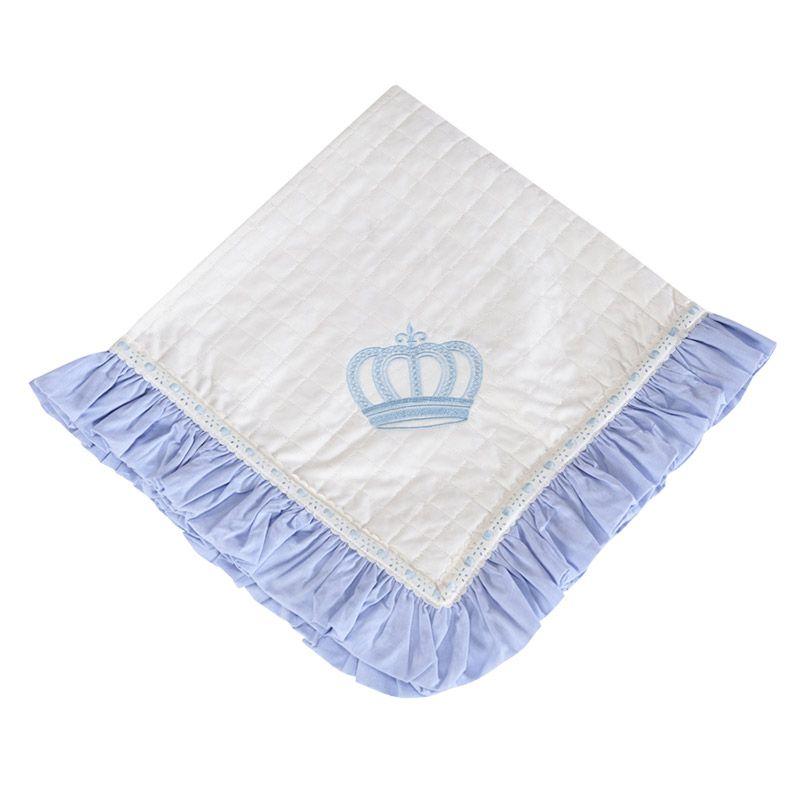 Manta de Piquet Kit Realeza Azul