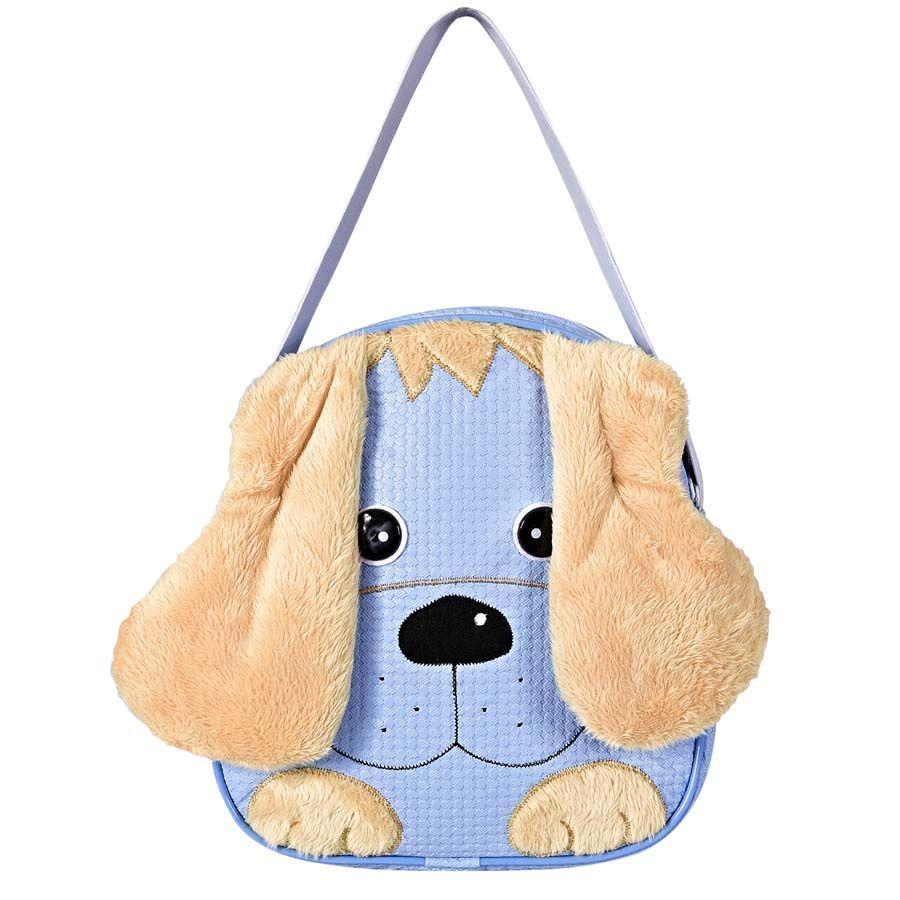 Lancheira Infantil Cachorro Azul P.  - Toca do Bebê