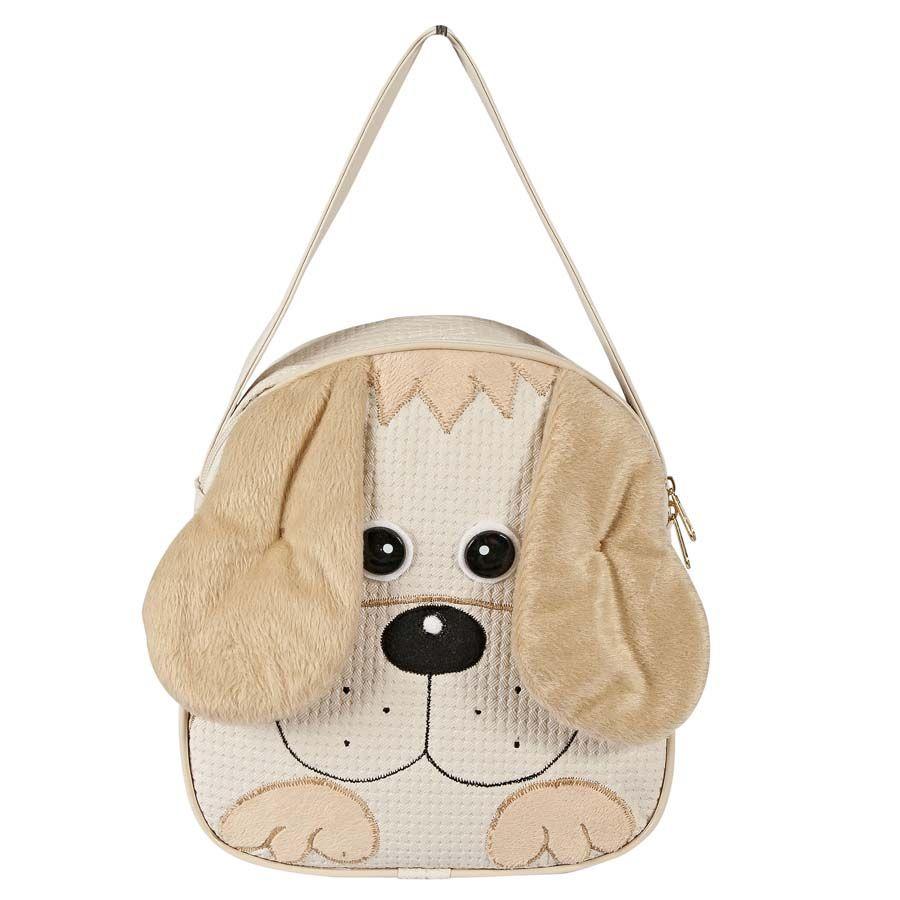 Lancheira Infantil Cachorro Palha P.