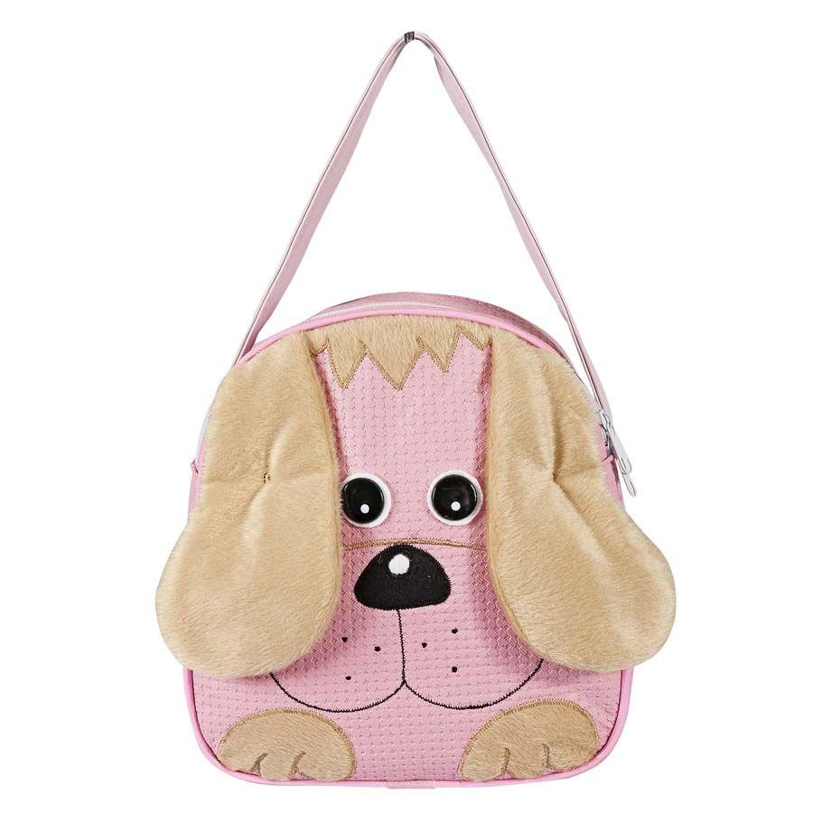 Lancheira Infantil Cachorro Rosa P.