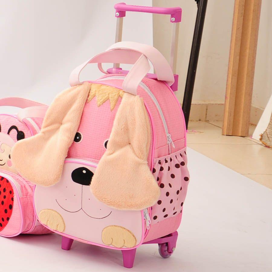 Mochila Infantil de Carrinho Dog Rosa G.  - Toca do Bebê