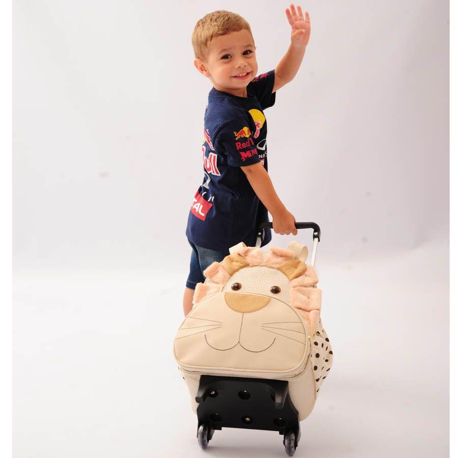Mochila Infantil de Carrinho Leão Palha G.  - Toca do Bebê