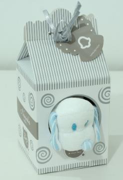 Naninha Cetim Listrado Baby Azul  - Toca do Bebê