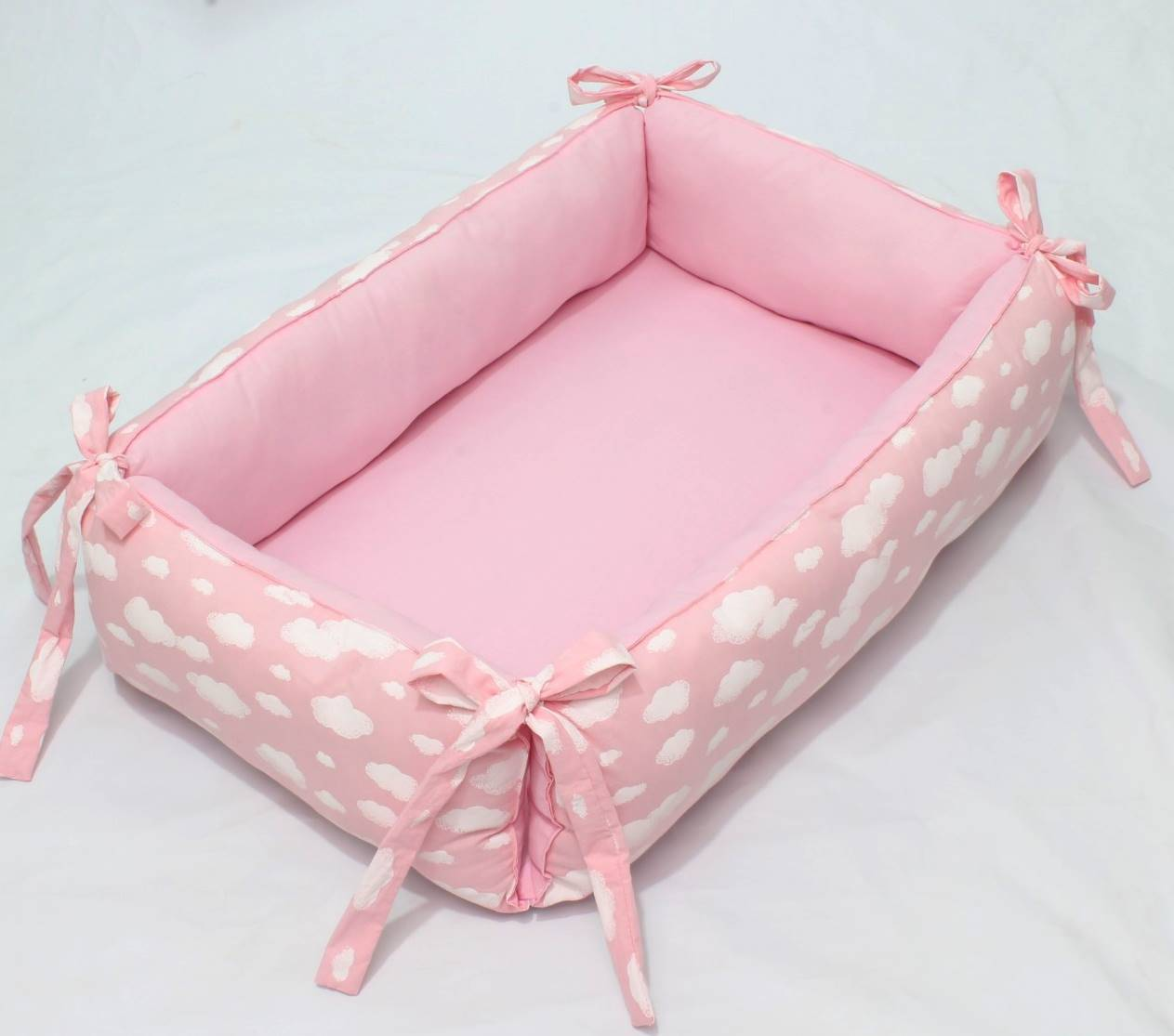 Ninho para Bebê Redutor de Berço Algodão Doce Rosa