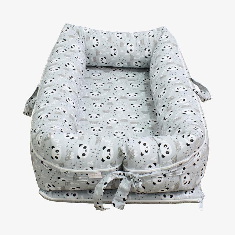Ninho para Bebê Redutor de Berço com Zíper Panda