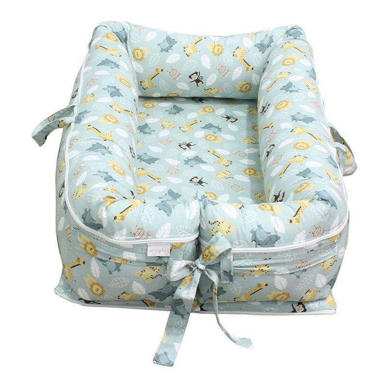 Ninho para Bebê Redutor de Berço com Zíper Savana Verde