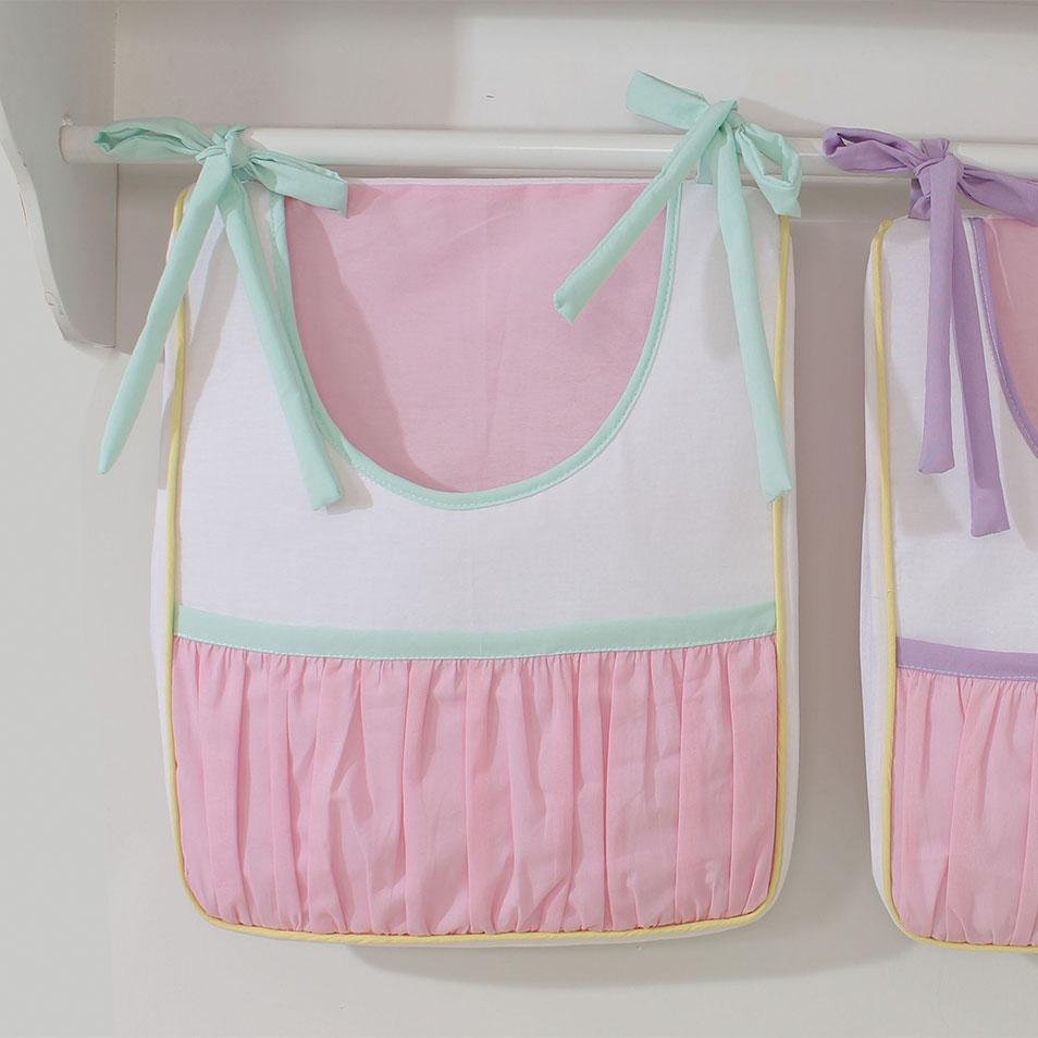 Porta Fraldas 02 Peças Aquarela   - Toca do Bebê