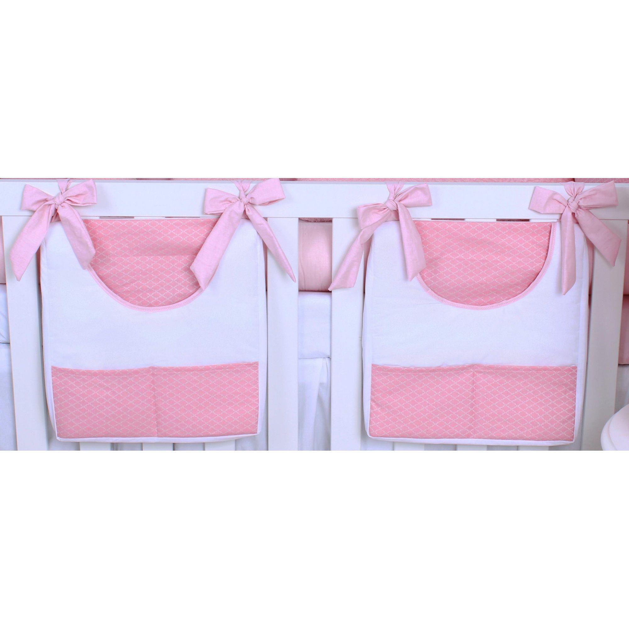 Porta Fraldas de Varão 02 Peças Arabesco Rosa