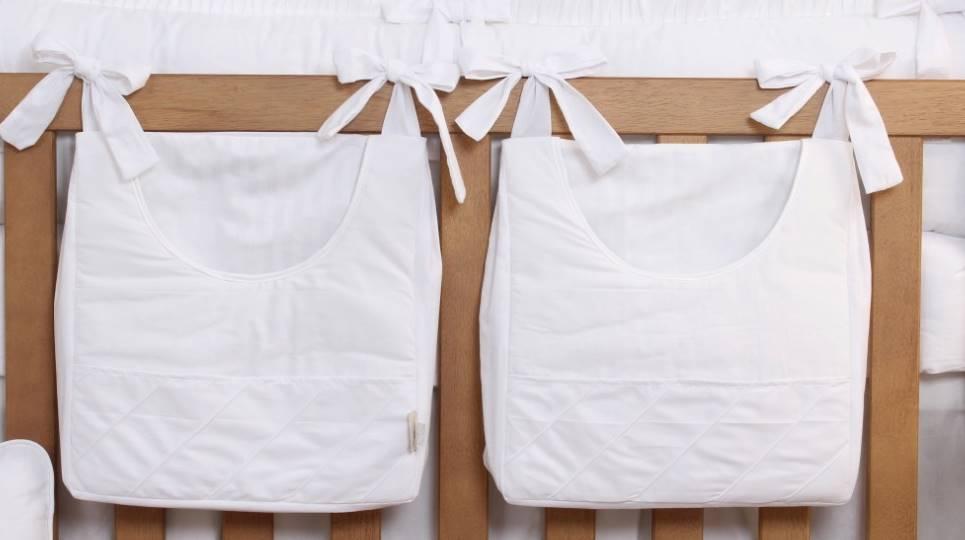 Porta Fraldas de Varão 02 Peças Branco