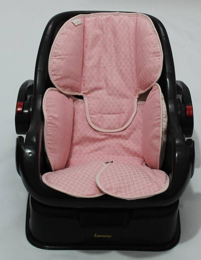 Redutor de Bebê Conforto e Carrinho Arabesco Rosa Jacard
