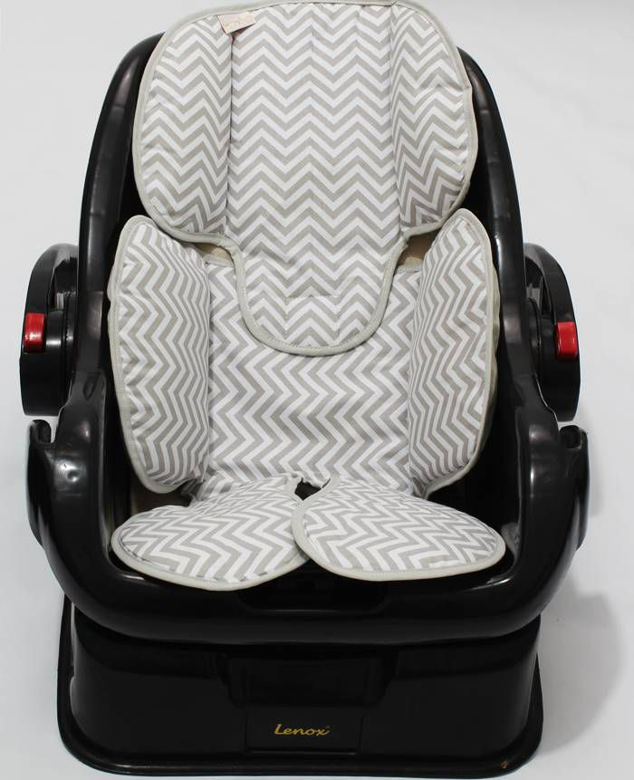 Redutor de Bebê Conforto e Carrinho Chevron Cinza