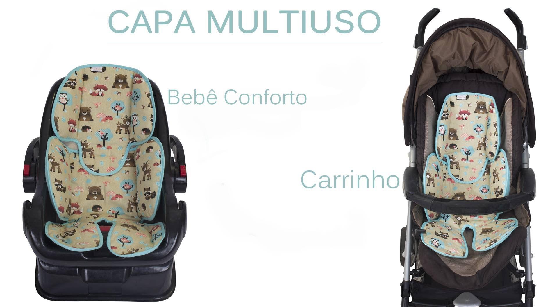 Redutor de Bebê Conforto e Carrinho Chevron Pink  - Toca do Bebê