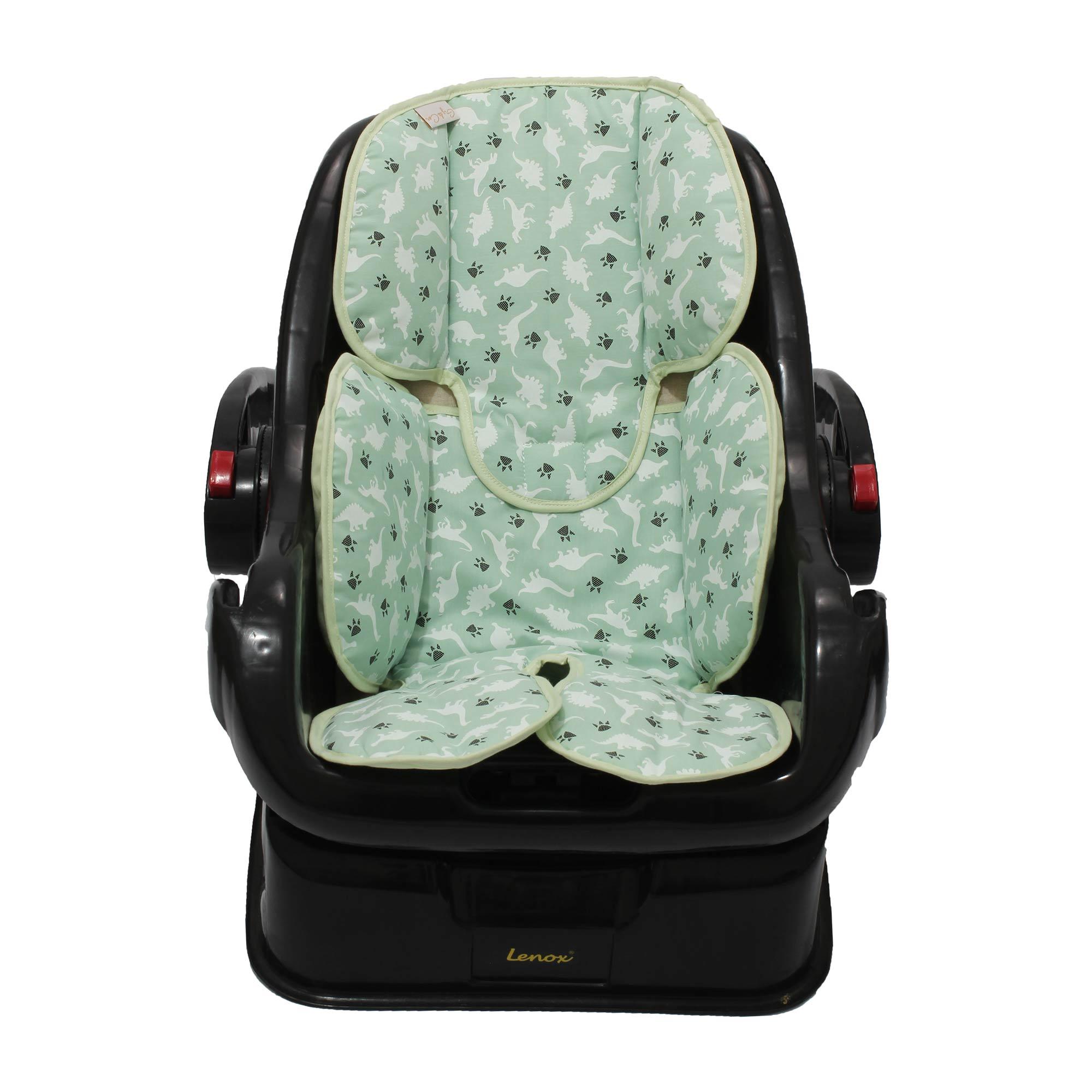 Redutor de Bebê Conforto e Carrinho Dino Verde