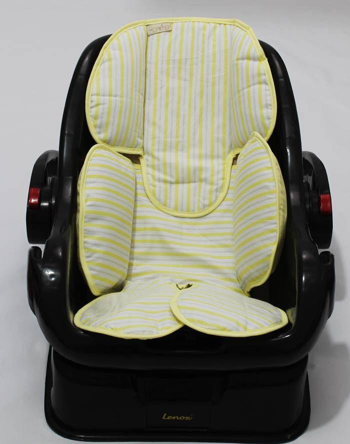 Redutor de Bebê Conforto e Carrinho Listrado Amarelo
