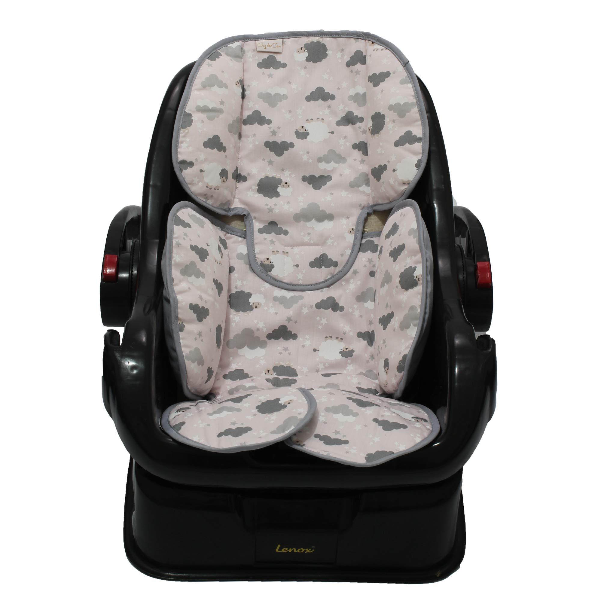 Redutor de Bebê Conforto e Carrinho Ovelha Rosa