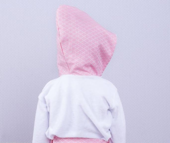 Roupão Arabesco Rosa Jacard  - Toca do Bebê