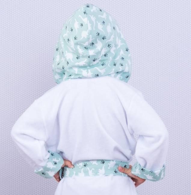 Roupão Dino Verde  - Toca do Bebê