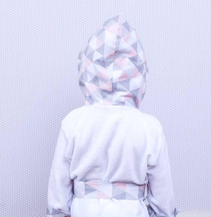 Roupão Losango Rosê  - Toca do Bebê