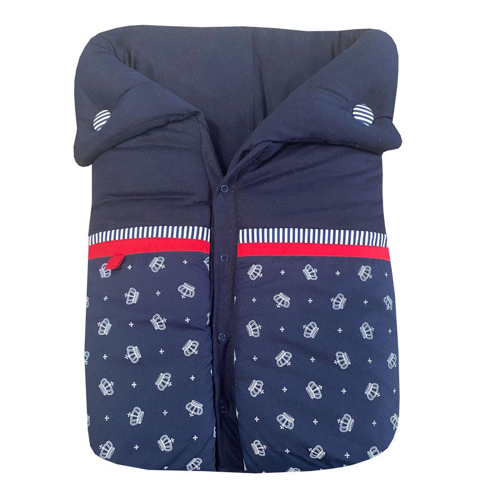 Saco de Dormir Coroa Azul Marinho