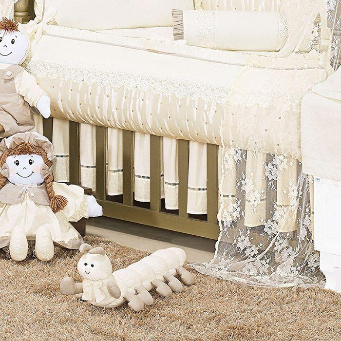 Saia de Berço 2 Lados Kit Imperial  - Toca do Bebê
