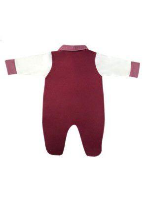 Saída Maternidade Bordô e Palha 03 Peças  - Toca do Bebê