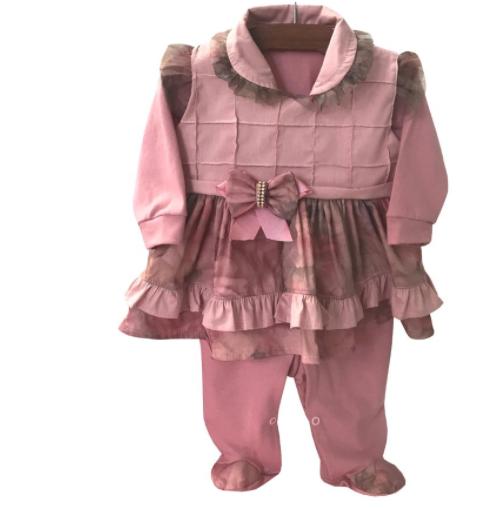 Saída Maternidade Elegance Rosê 04 Peças  - Toca do Bebê