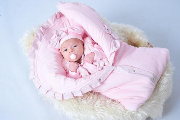 Saída Maternidade Penélope Rosa 4 Peças