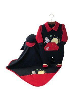 Saída Maternidade Astronauta Marinho 03 Peças