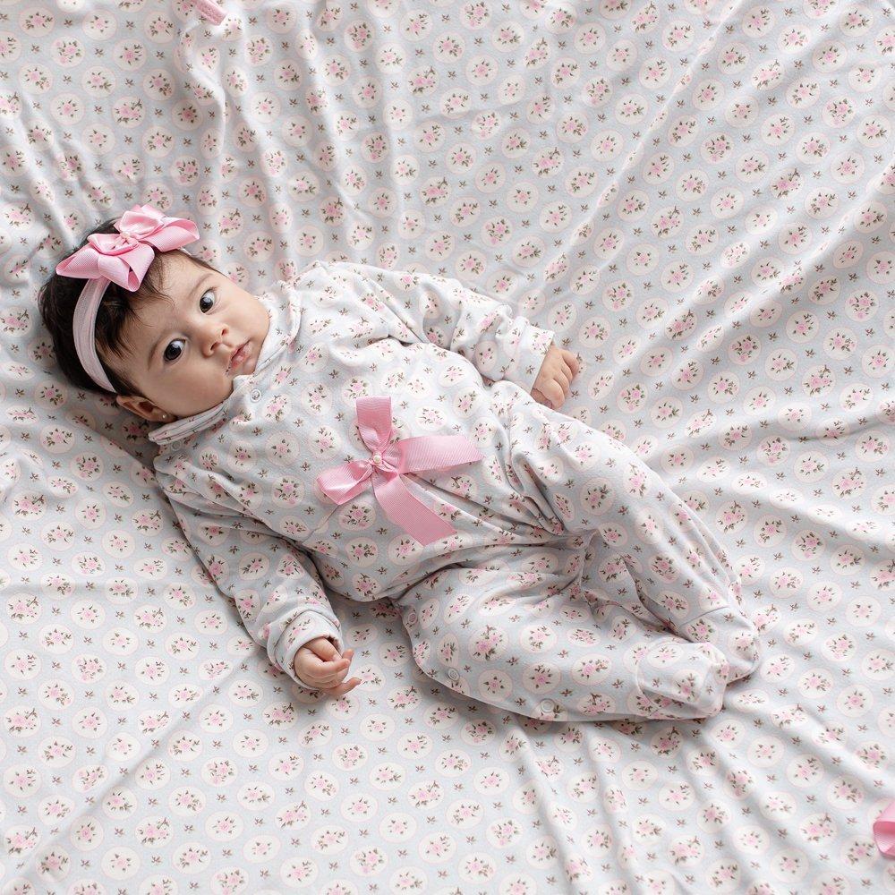 Saída Maternidade Baby Confort Floral 03 Peças