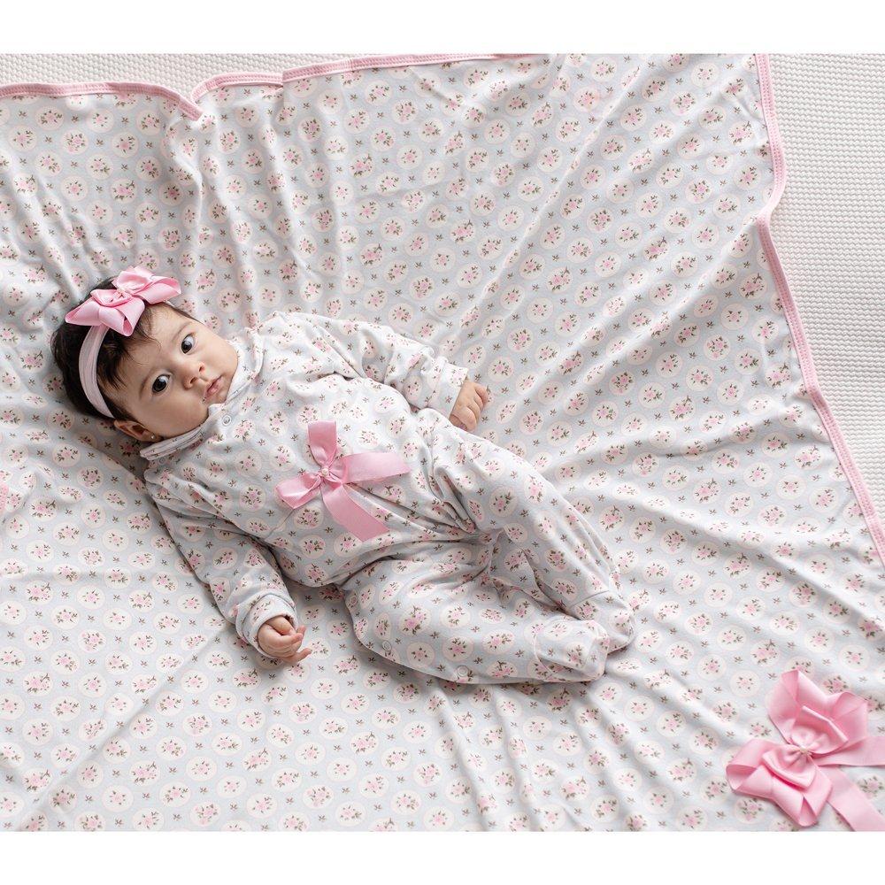 Saída Maternidade Baby Confort Floral 03 Peças  - Toca do Bebê