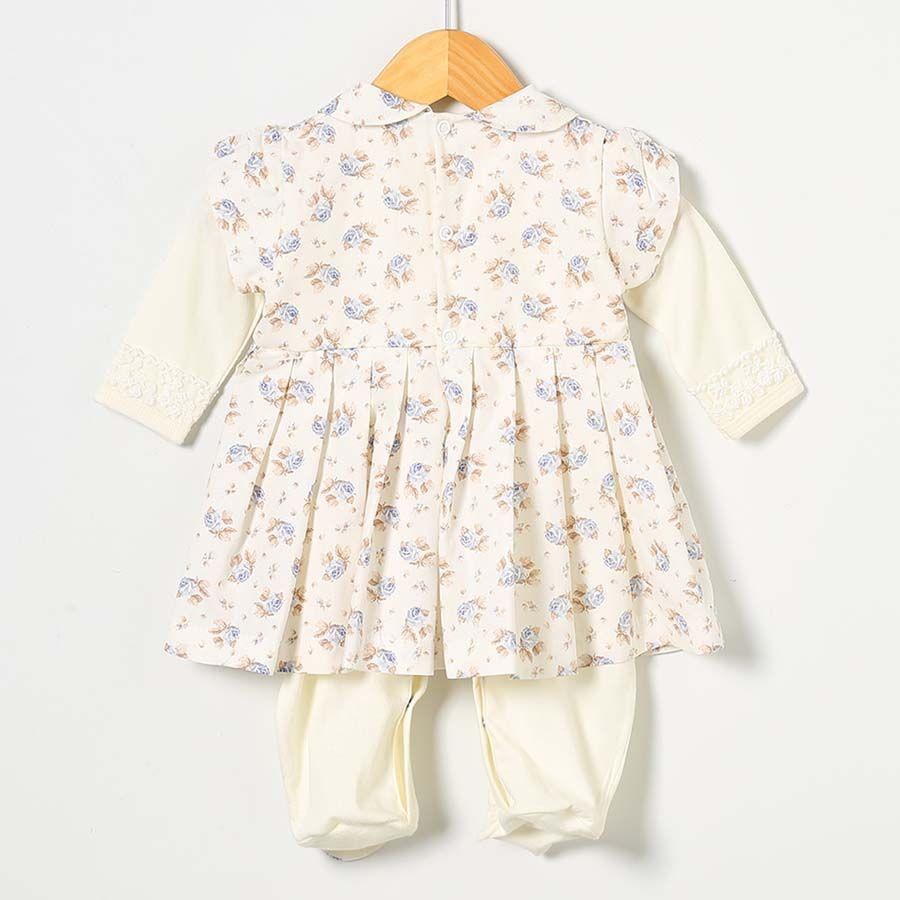 Saída Maternidade Coleção Doce Primavera Palha 03 Peças  - Toca do Bebê
