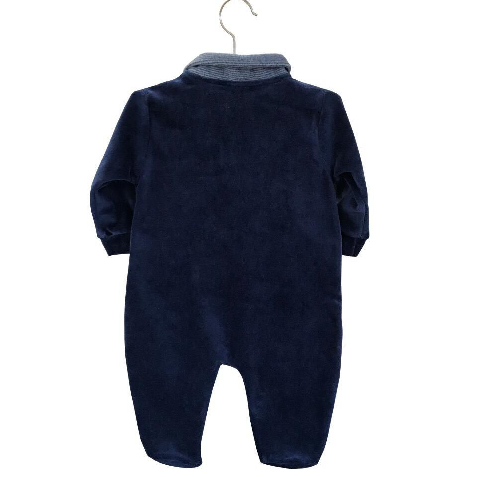 Saída Maternidade Elefantinho Azul 03 Peças  - Toca do Bebê