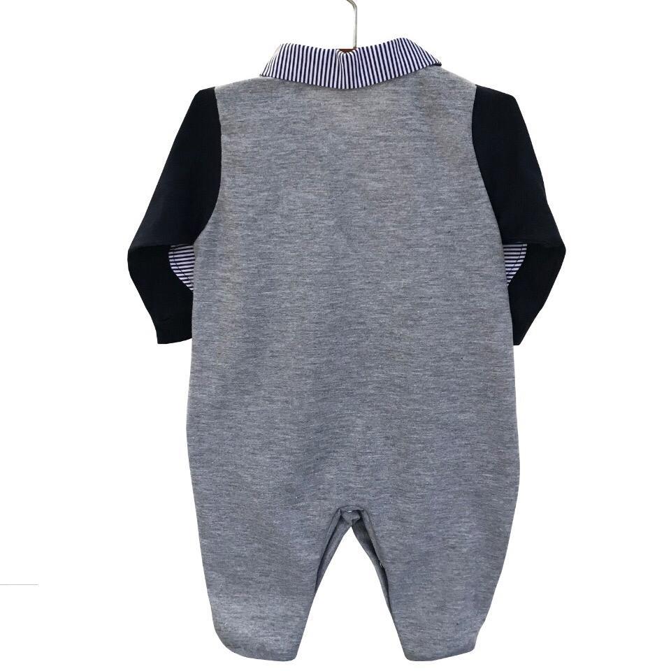 Saída Maternidade Elefantinho Cinza 03 Peças  - Toca do Bebê