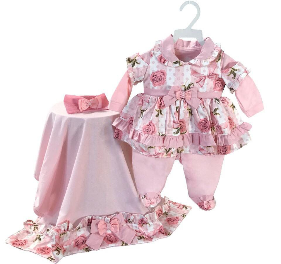 Saída Maternidade Floral 03 Peças