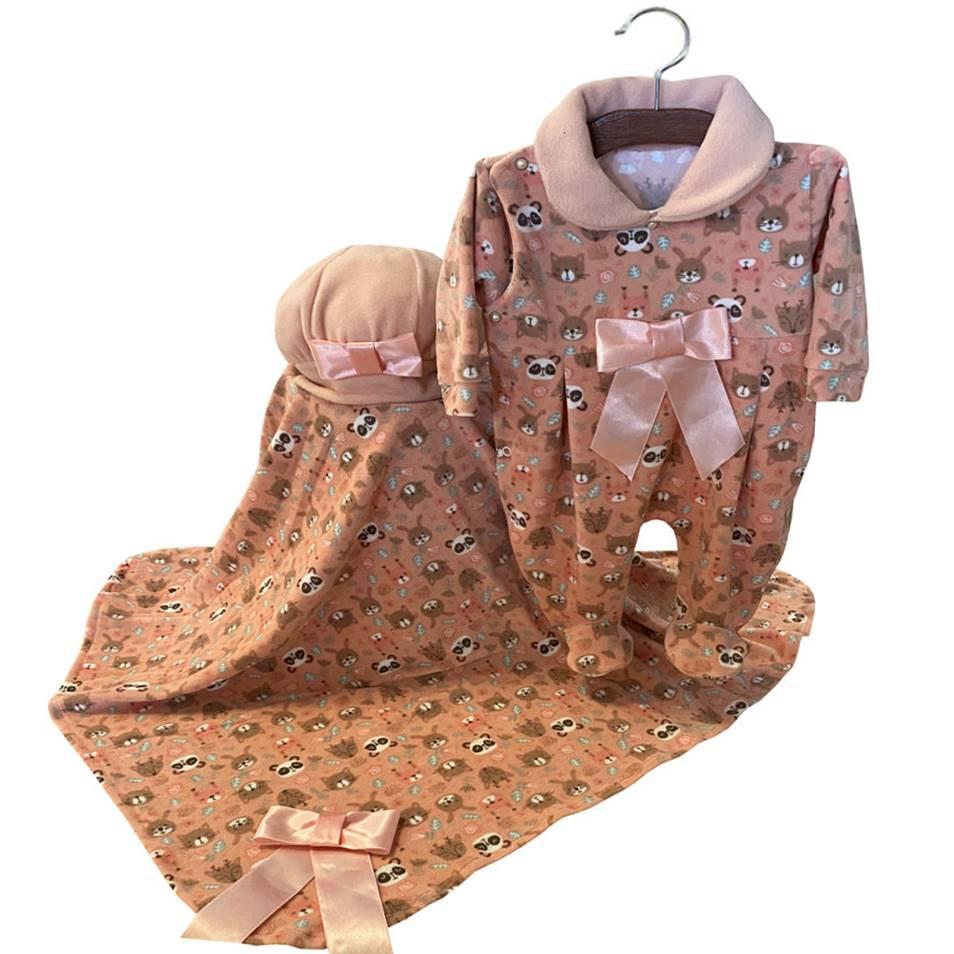 Saída Maternidade Floresta 03 Peças   - Toca do Bebê