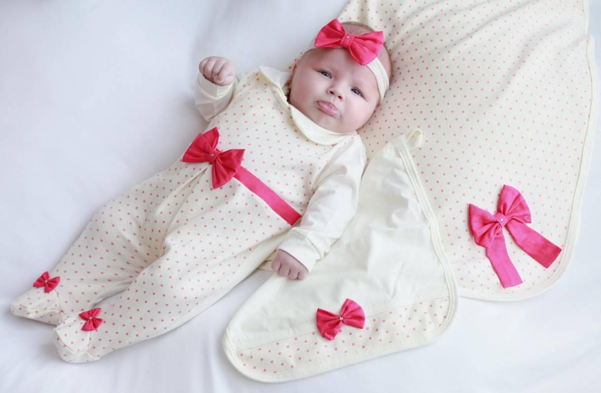 Saída Maternidade Palha com Poá Pink 04 Peças  - Toca do Bebê