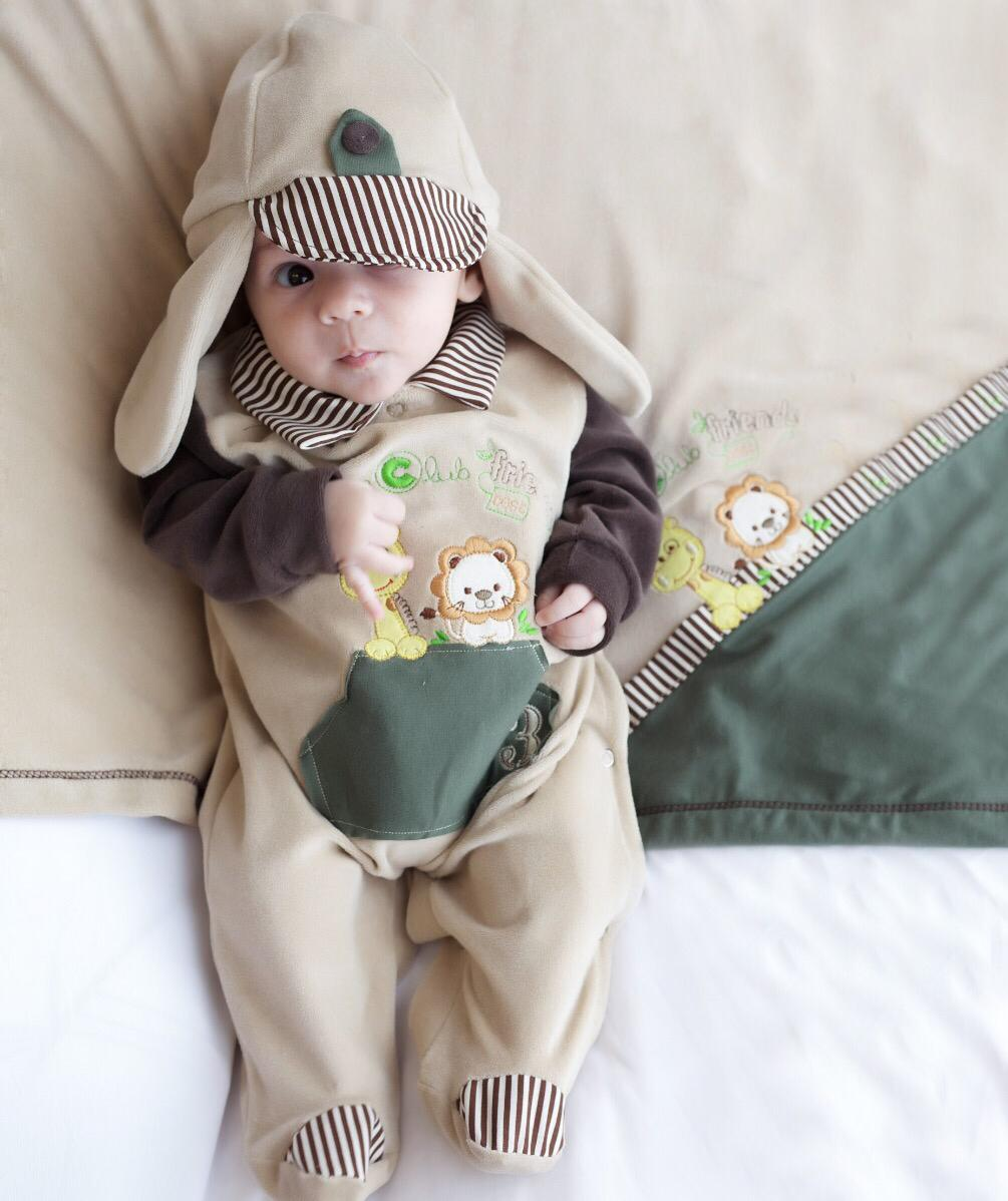 Saída Maternidade Safari 03 Peça