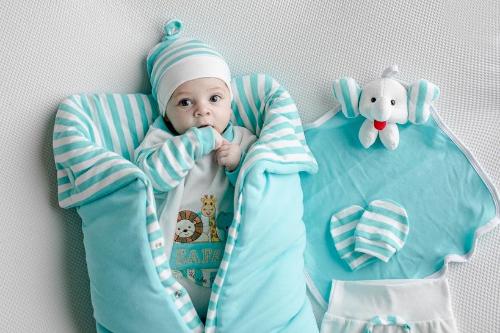 Saída Maternidade Safári Tiffany 06 Peças  - Toca do Bebê