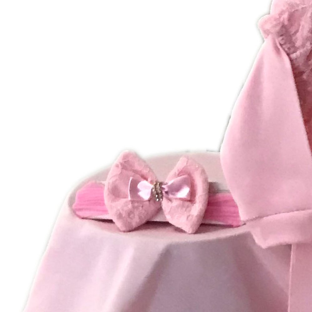 Saída Maternidade Ursa Bailarina Rosa 03 Peças  - Toca do Bebê