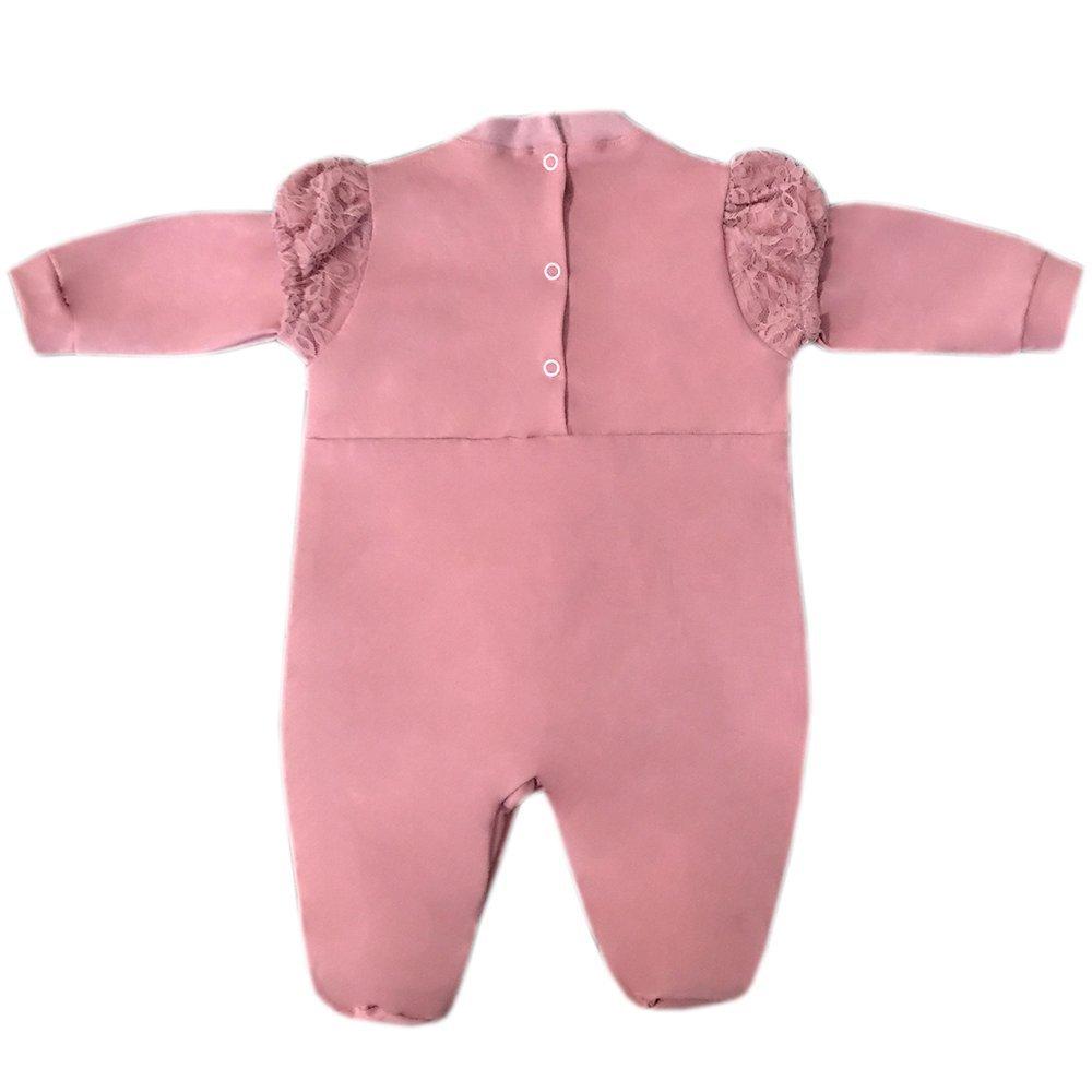 Saída Maternidade Ursa Bailarina Rosê 03 Peças  - Toca do Bebê