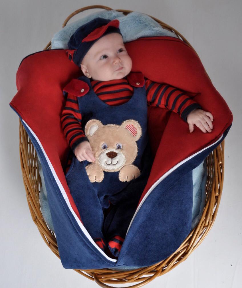 Saída Maternidade Ursinho Listrado 03 Peças  - Toca do Bebê