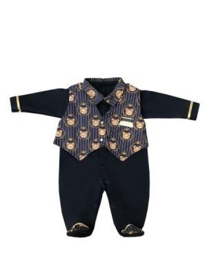 Saída Maternidade Urso Realeza 03 Peças  - Toca do Bebê
