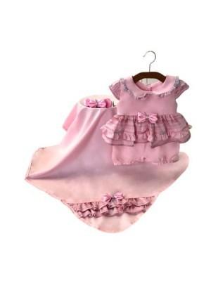 Saída Maternidade Verão Rosa 03 Peças