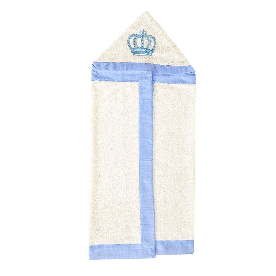 Toalha Bordada Kit Realeza Azul