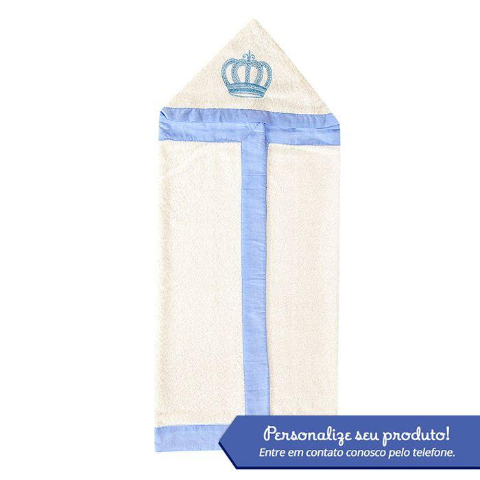 Toalha Bordada Personalizada Kit Realeza Azul