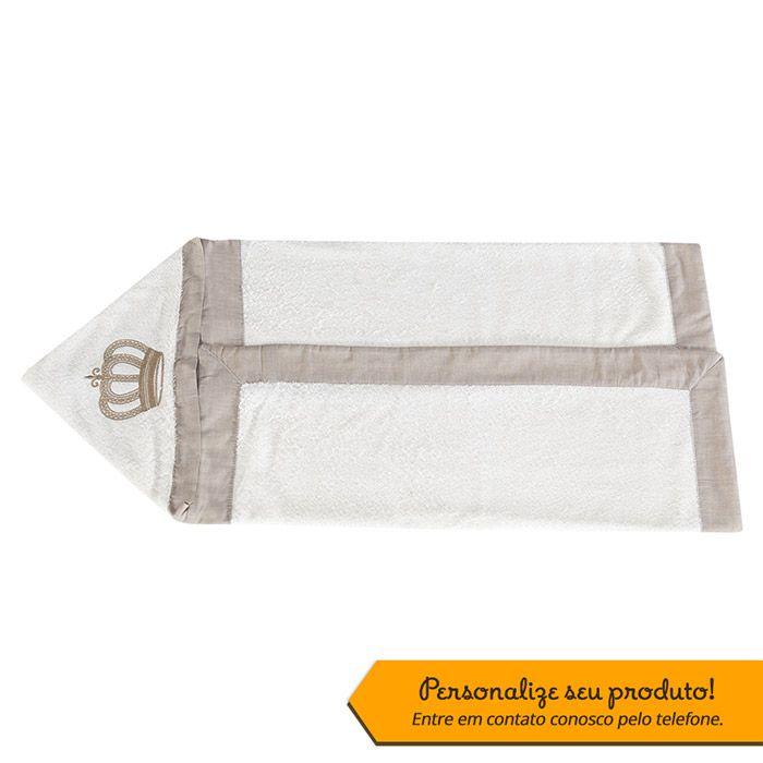 Toalha Bordada Personalizada Kit Realeza Cáqui/Palha