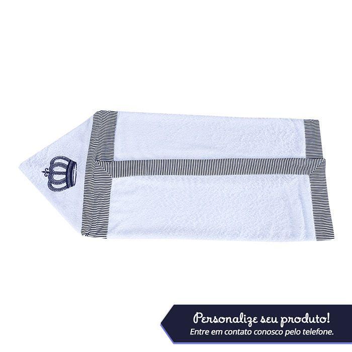 Toalha Bordada Personalizada Kit Realeza Marinho