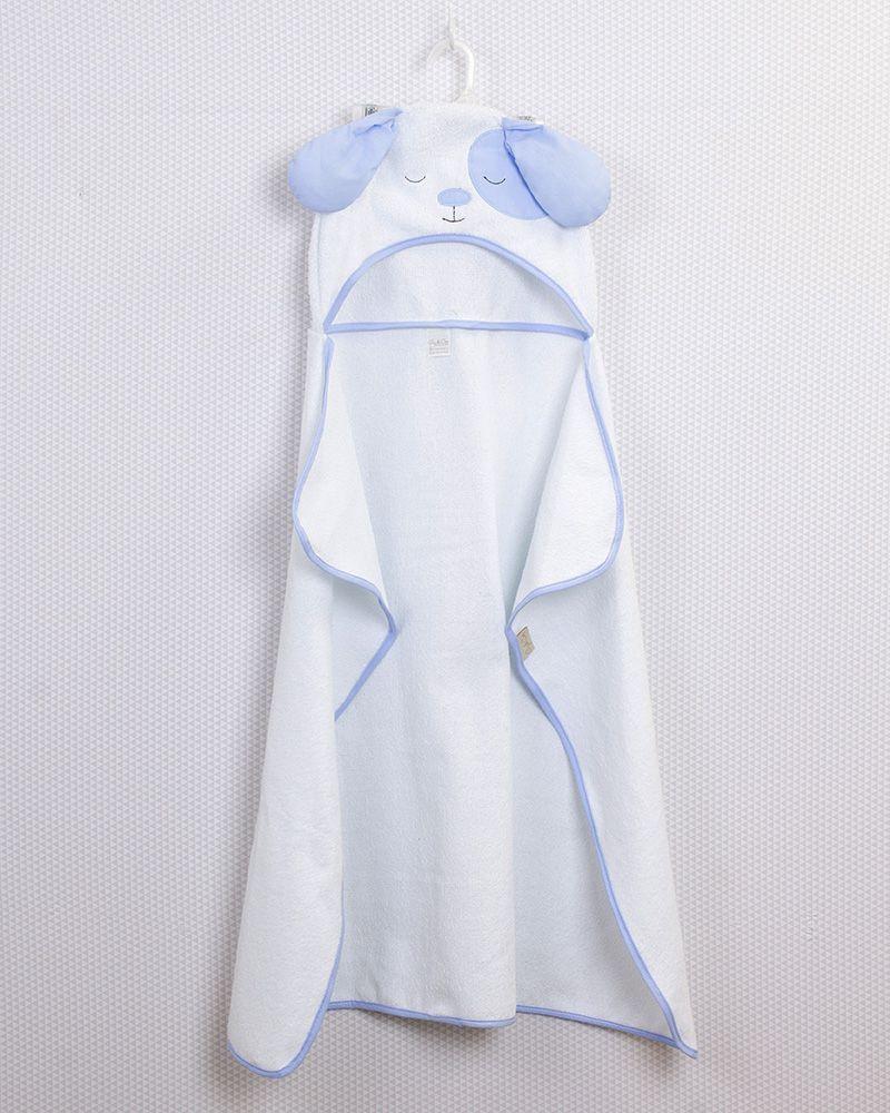 Toalha de Banho com capuz Cachorro Azul