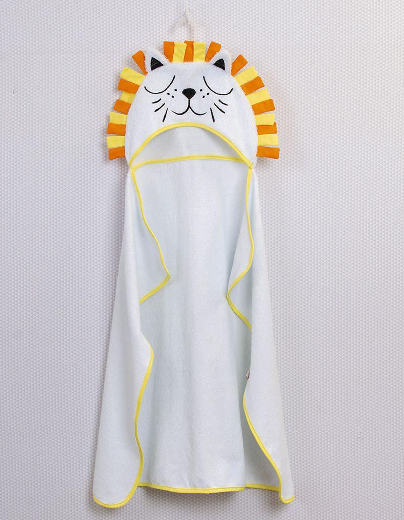 Toalha de banho com capuz Leão Amarelo